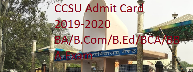 CCSU Admit card 2019