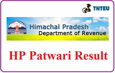 HP Patwari Result 2019