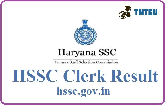 HSSC Clerk Result 2019, Haryana SSc Clerk Exam Result Date