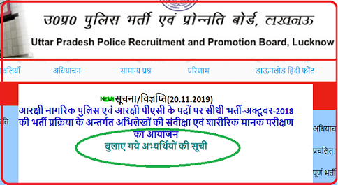 UP Police Constable Result 2019 49568 Post