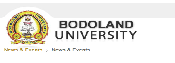 Bodoland University Time table 2019