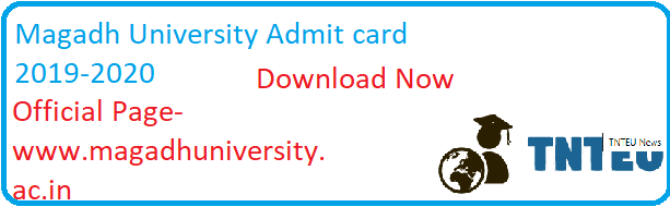 Magadh University BA B.Com B.Sc Admit card 2019