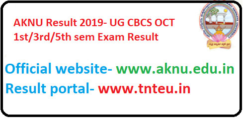 AKNU UG 1st, 3rd, 5th sem Result 2019