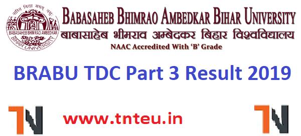 BRABU TDC Part 3 result 2019