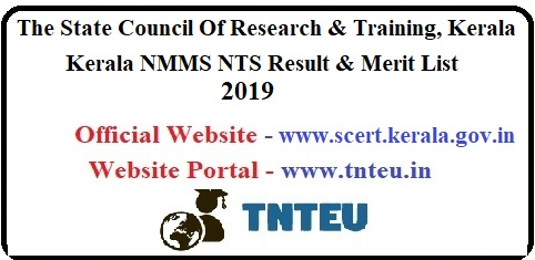 Kerala NMMS NTS Result 2019