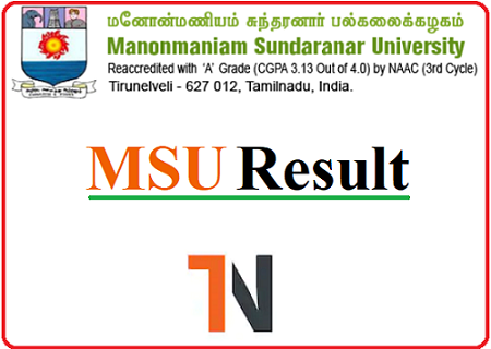 MS University UG Results