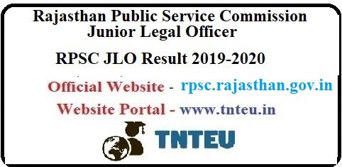 RPSC JLO Result 2019-20