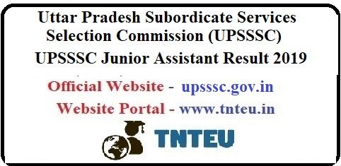 UPSSSC Junior Assistant Result 2019