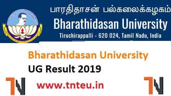Bharathidasan University UG Result 2019,  BDU UG NOV Result 2019