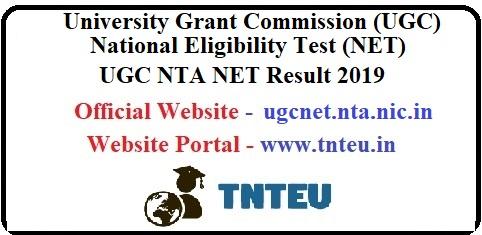 UGC NET Result December 2019