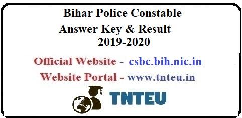 Bihar Police Constable Result 2019-20