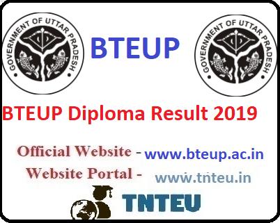 BTEUP Diploma Result 2019 Odd semester