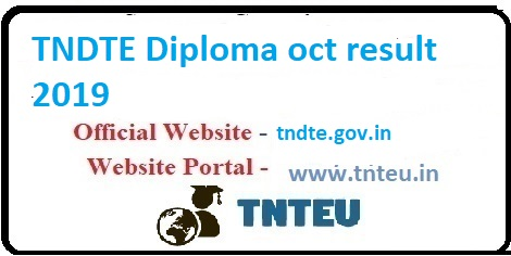 NDTE diploma Oct result 2019