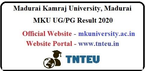 MKU UG/PG Result 2020