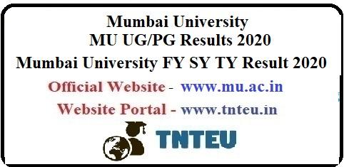 Mumbai University FY SY TY BA BSc BCom Result 2020