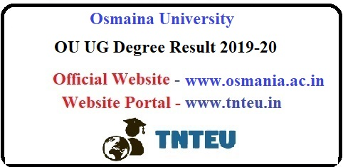 OU UG Degree Result 2019-20