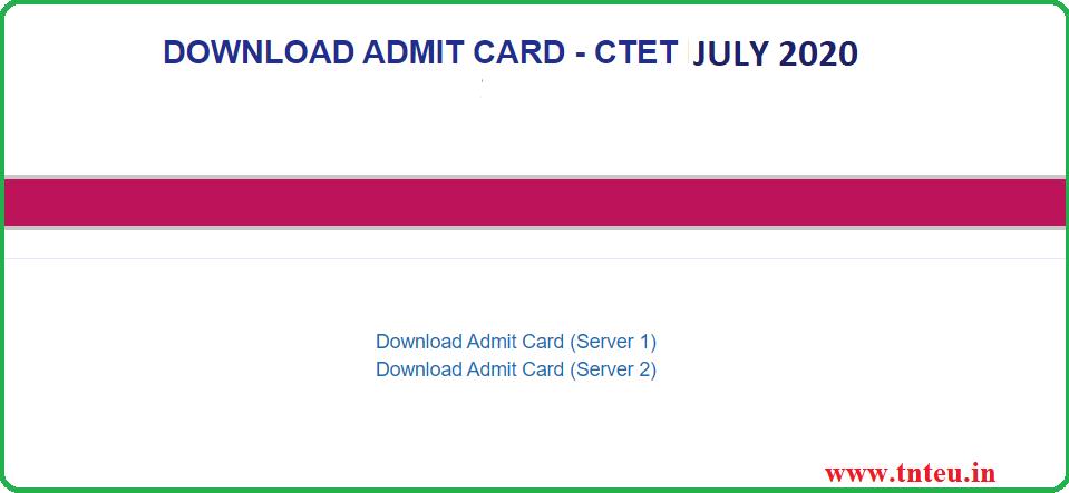 ctet july admit card 2020soon download  ctetnicin