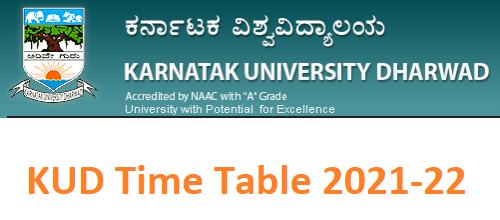 KUD UG Degree Time Table 2021