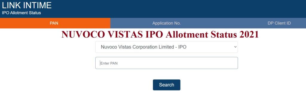 Nuvoco Vistas IPO Allotment Status