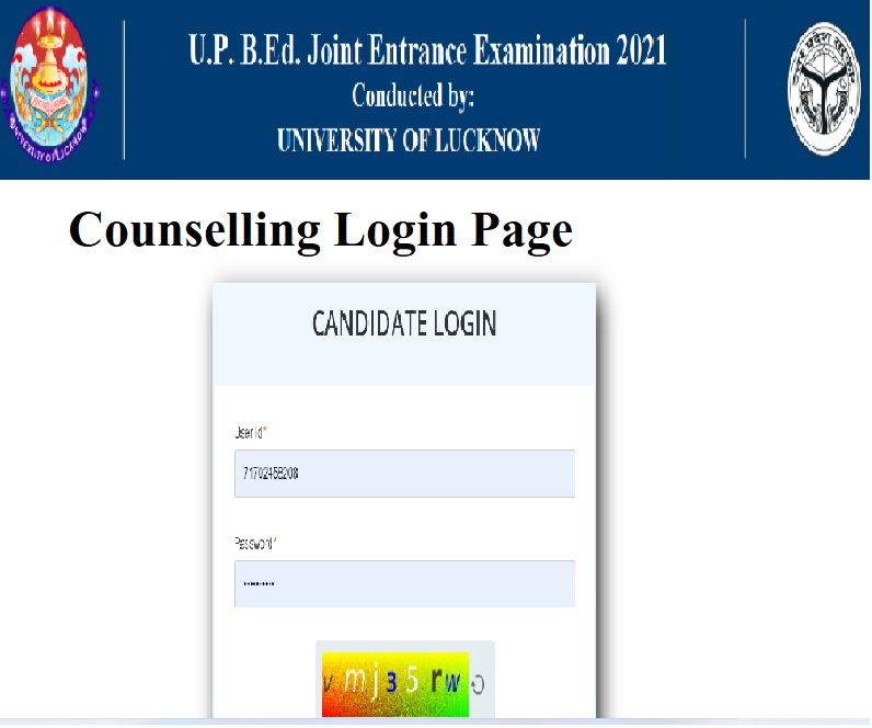 Counselling Login Page