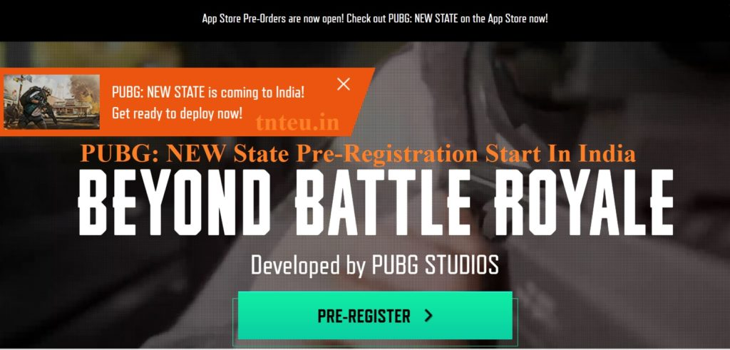 PUBG New State Pre Registration
