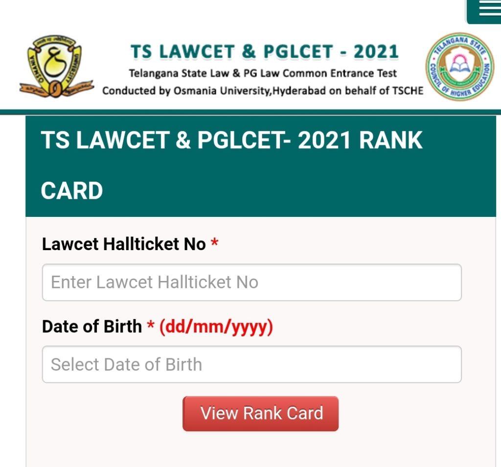 TS LAWCET Result 2021