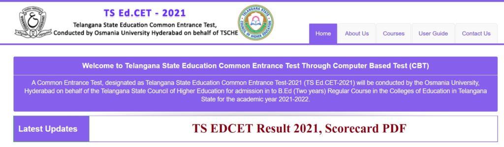 TS EDCET Result 2021
