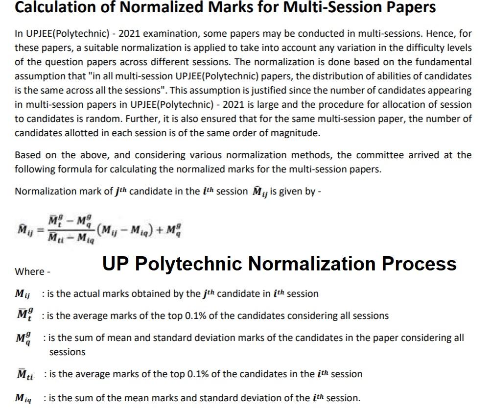 UP Polytechnic Normalization Process