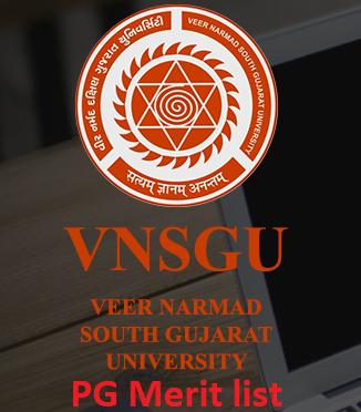 VNSGU PG Merit list 2021 pdf