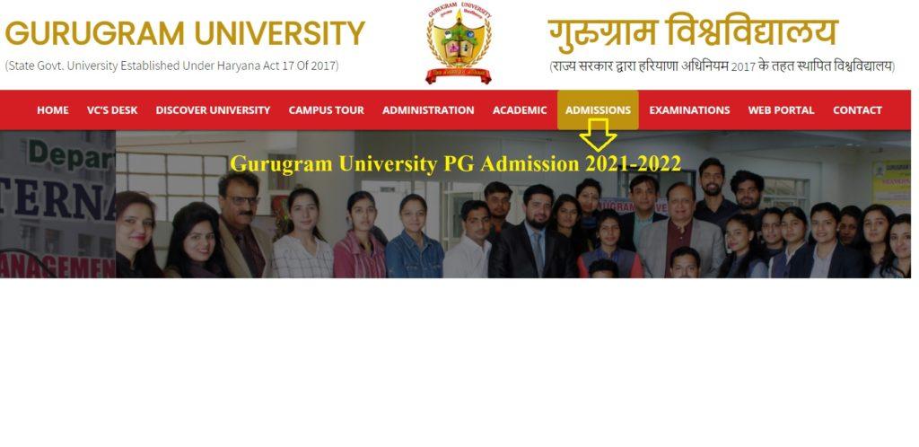 Gurugram University PG Merit List 2021
