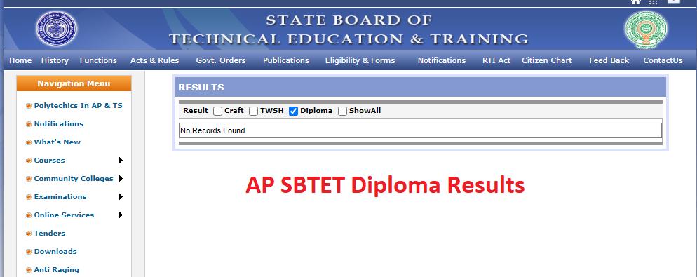 AP SBTET C16 5th Sem results 2021