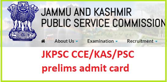 JKPSC KAS Admit card 2021 login link